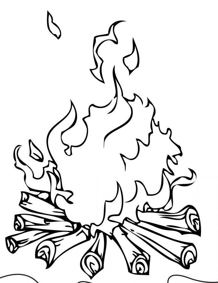 Раскраска огонь » Скачать лучшие картинки бесплатно на ...