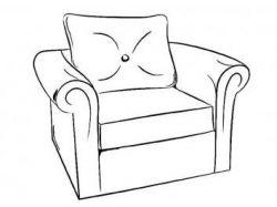 Раскраска мебель для детей