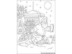 Раскраски зимние забавы