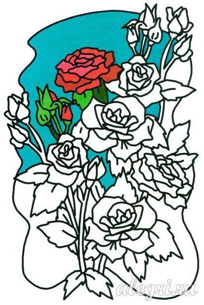 Раскраска цветы для детей » Скачать лучшие картинки ...