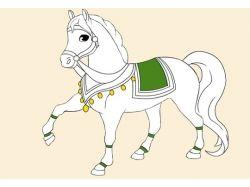 Раскраски лошади распечатать