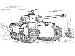 Раскраски для мальчиков танки