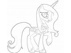 Раскраски про пони 6
