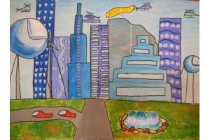Рисунки будущего города