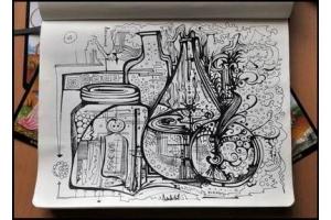 Прикольные рисунки карандашом в тетради