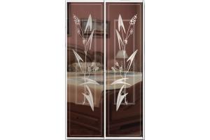 Рисунки на стекле двери фото