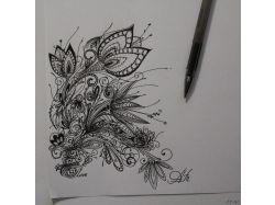 Рисунки черной ручкой 3