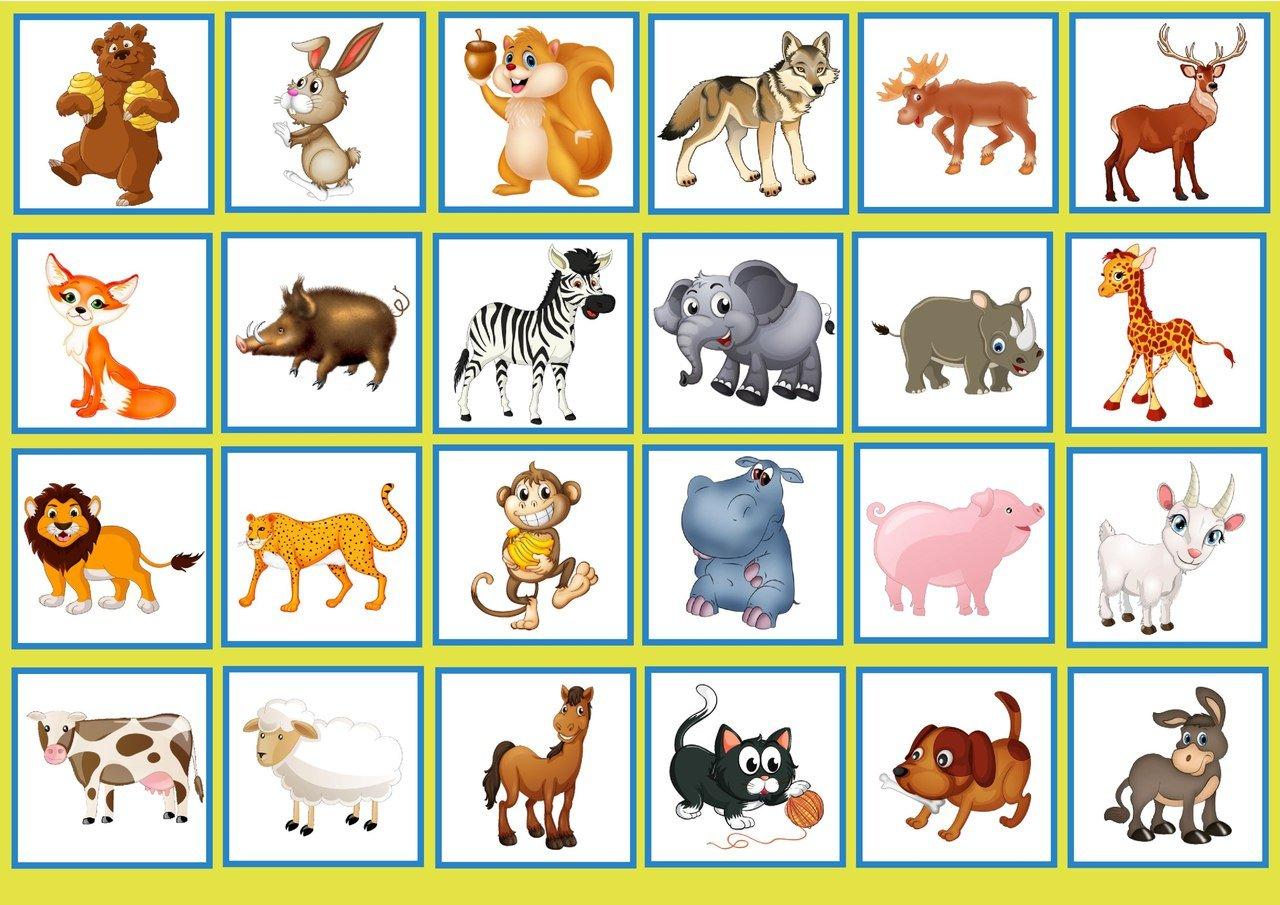 Картинки животных для дидактических игр