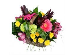 Смотреть фото цветы в корзине и букеты в корзине