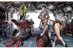 Девушки и мотоциклы фото