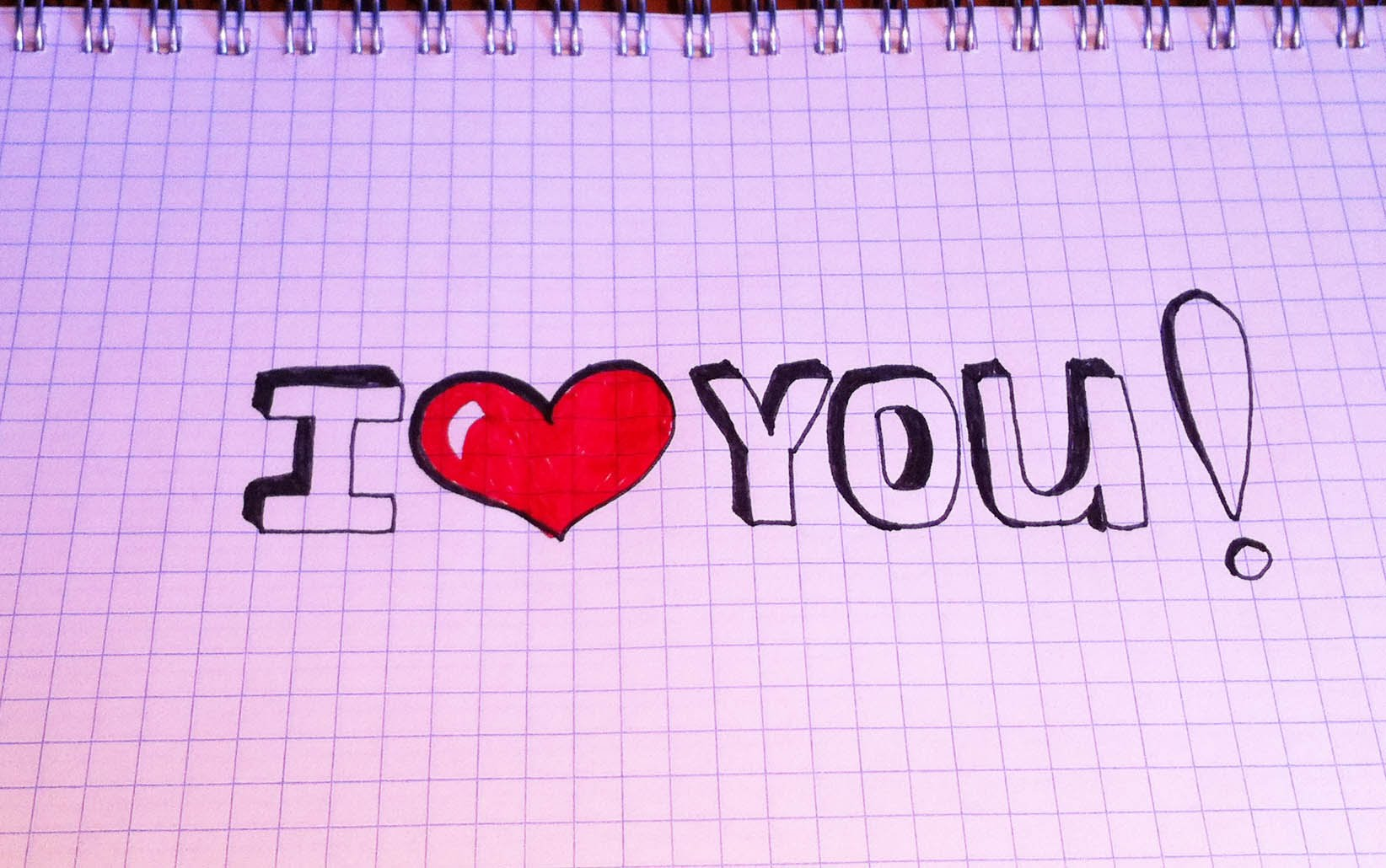 Я тебя люблю рисунок карандашом