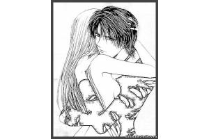 Аниме рисунки про любовь