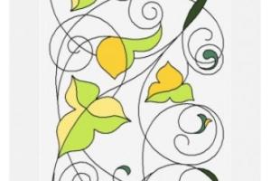 Роспись по стеклу контурные рисунки