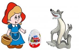 Картинка для детей коза бодает волка