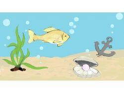 Детские рисунки-подводный мир
