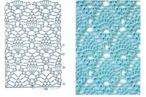Рисунки вязания крючком схемы