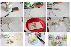 Поделки из старых дисков фото