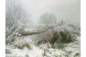 Картины зима пейзажи