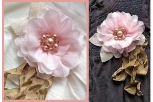 Фото цветы из ткани