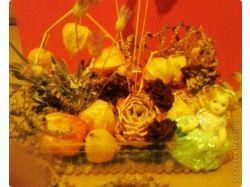 Экибана из цветов 4