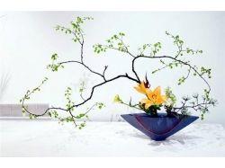 Экибана из цветов 5