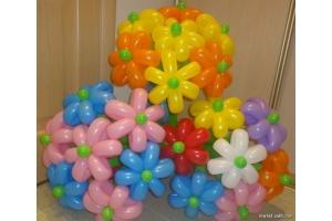 Фото цветы из шариков