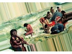 Что ели древние люди картинки
