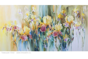 Цветы картины акварель