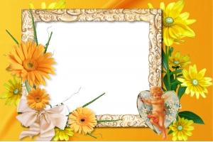 Оранжевые рамки для фото