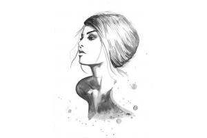 Красивые черно белые картинки для лд