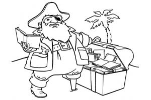 Пираты картинки для детей раскраски