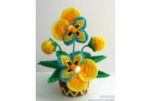 Фото цветы крючком