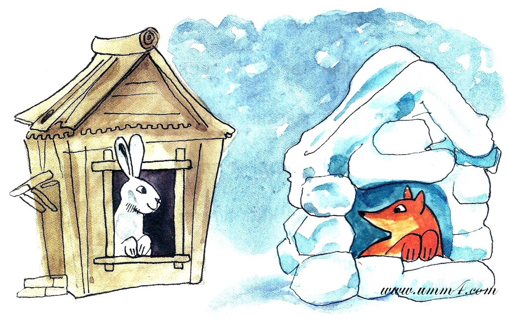 Ледяная избушка для лисы картинки для детей