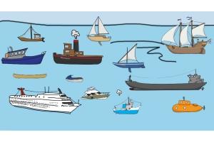 Водный транспорт картинки для детей