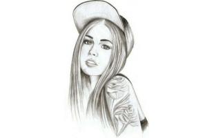 Рисунки красивых девушек картинки