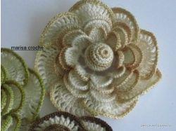 Вязание крючком фото цветы