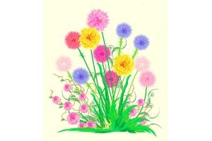 Цветы картинки для детей нарисованные