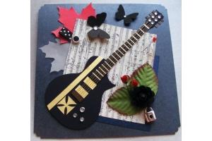 Открытка своими руками гитара