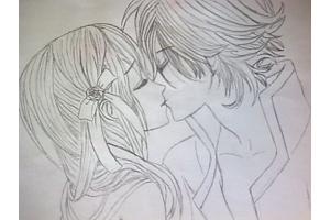 Аниме рисунки любовь