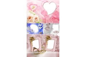 Рамки для фото свадьба