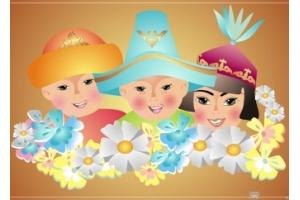 Дети в национальных костюмах картинки для детей
