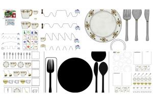 Посуда картинки для детей шаблоны