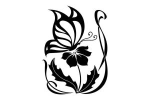 Картинки цветы черно белые