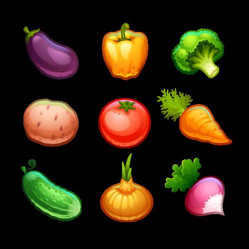 Рисованные овощи и фрукты картинки для детей