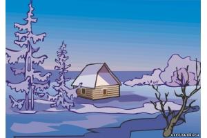 Зима рисунки на компьютер