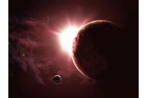 Скачать красивую картинку солнца в космосе