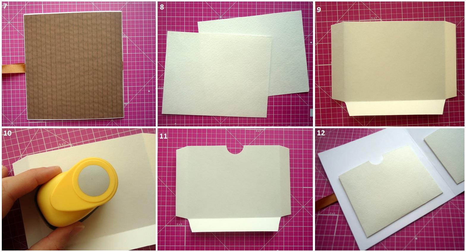 Как сделать кармашек на открытку из бумаги