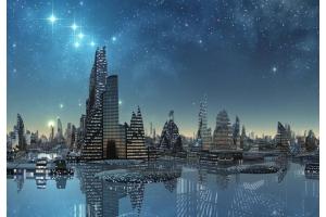 Изображение ночного города