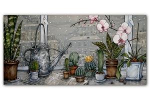 Батик картинки растения