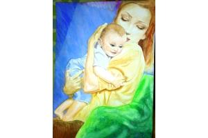 Мама и ребенок картинки рисунки
